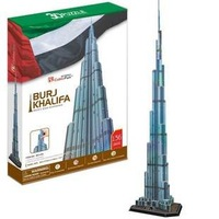 Candice guo! 3D puzzle toy CubicFun 3D paper model jigsaw game Burj Khalifa currently the tallest building in the world