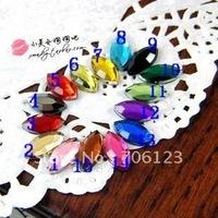 Wholesale DIY Garment / phone / nail art Accessories 5*10mm Horse eye Acrylic diamond plastic flatback Rhinestones beads 1800pcs