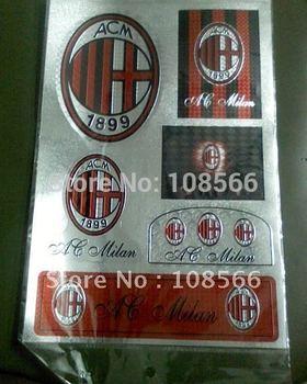 acmilan waterproof car sticker /  fans personalized stickers