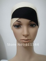 %HOT% Best sale!!! Two-tone cotton half-head muslim inner hats for free shipping h12031722