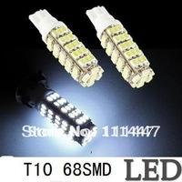 Freeshipping 10x T10 194 168 1206 68SMD high power LED light Bulbs Super white 68 LED light bulb