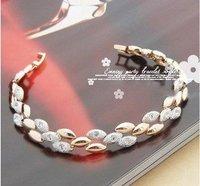 Free  Shipping ,Gold & Silver Ear of  Wheat ,Crystal Bracelet/Bangle ,Fashion Wedding Bracelet ,HSBB015