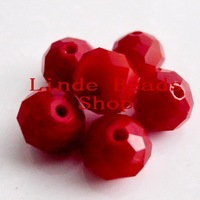 Free Shipping!! Red Coral Colour 10mm AAA Top Quality Crystal 5040 Rondelle Beads 360pcs/lot B10068