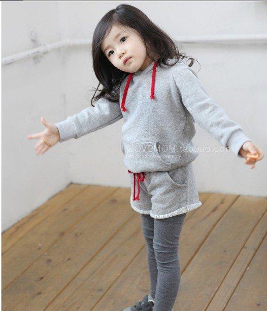 Autumn Hot sale 5pcs 2 piece set girl suit Wear,Suit Children Garment/Girl Clothe/Childen Wear 109-20(China (Mainland))