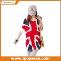 British Union Jack T shirt for London Olympics 2012, Loose large size long short sleeved UK Flag women's T-shirt