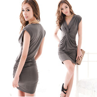 Free Shipping Night Club Party Sexy Summer Dress Sleeveless Fashion Dress Front-Back Both Size Can Wear One-piece Dress MG-025