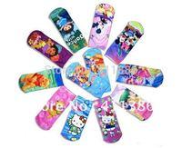 60pairs/lot baby cotton socks,cartoon designs kids sock,Mickey/Minnie/Hello Kitty cartoon childredn socks,mixed designs
