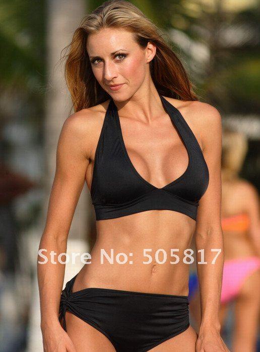 ... ladies bikini set Fashion summer bikinis swimwear beachwear Black yellow ...