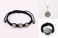 Wholesale Free Shipping Shamballa Bracelet Jewelry sets,925 silver Shamballa Beads Jewelry    #105SBS