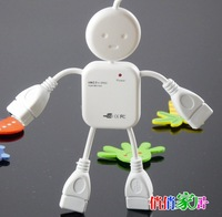 free shipping DHL 400pcs/lot  USB 2.0 4 port USB HUB Doll shape usb hub