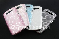 New Electroplate chrome square Pattern hard case for Samsung Galaxy S3 III i9300,Grid lines hard case ,10pcs/lot free shipping