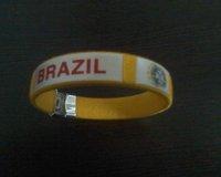 Brazil  yellow sports bracelet / new arrival football  woven wristband  5pcs