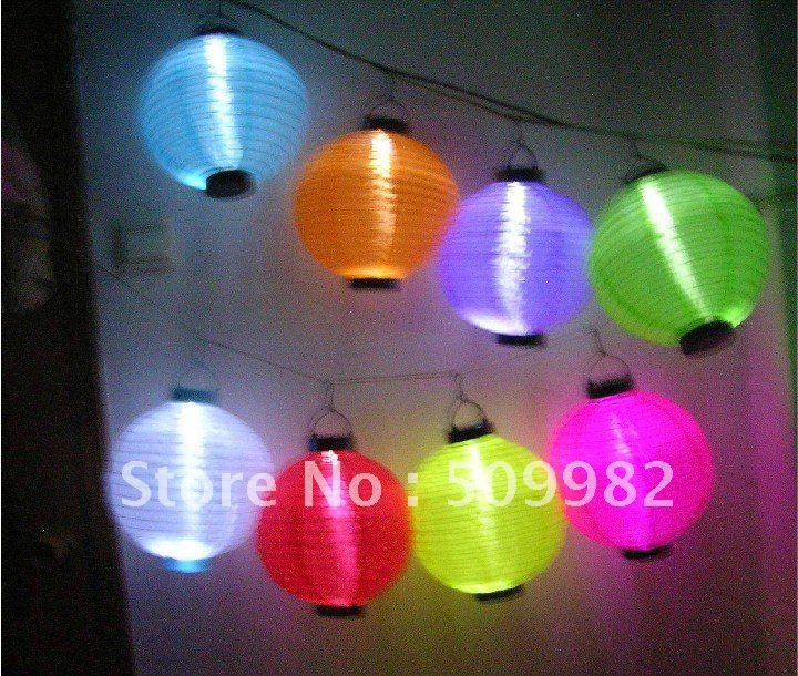 "12pcs/lot +Free Shipping,6"" Solar Powered Chinese Lantern Patio Garden/ Party /Festival /Decoration/Yard /LED light Wholesale(China (Mainland))"