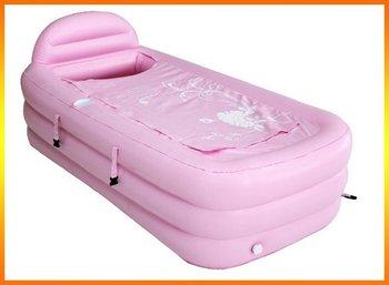 fashion PVC inflatable mini folding portable bathtub for spa travel bathtub