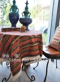 """wholesale 55""""x70""""cotton linen printed home decoration hometextile coffee diningroom table linen table cover table cloth"""