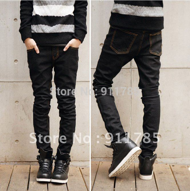 2015 New Brand Dimensional Cut Cat Whisker Denim Washed Ripped ...