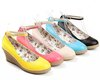 High quality Lady Wedge shoes Women dress shoes &amp; Yellow,Pink,Beige,Blue,Black