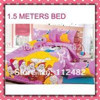 Cotton active children 4pcs Bedding Set Snow White Pink Kid Bedding Free Shipping