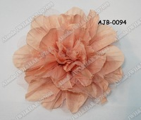 "12pcs/lot, 5.5""  large chiffon flower hair clip hair flower AJB-0094,free shipping(pink black blue green ivory green brown grey)"