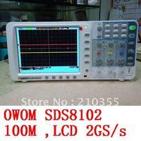"""DHL ,OWOM 100M 2GS/s SDS8102,8"""" 800*600 LCD display, Deep memory 10M record length digital storage oscilloscope"""