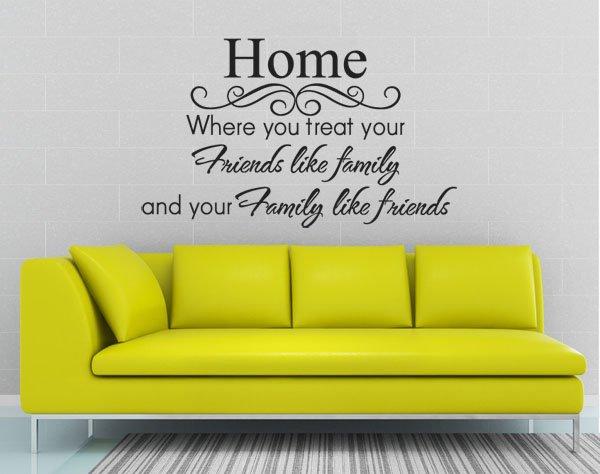 Funlife Xcm  Piece Drop Ship  Home  Family Like Font B  Friends B Font  Wall