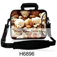 "NEW 14"" 15"" 15.4"" 15.6"" Bear Laptop Notebook Shoulder Traveling Hand Carry Fashion Bag Sleeve Pouch Cover w Double Pockets"