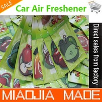Free shipping 50PCS for a lot wholesale fruit paper air freshener, paper perfumed,car air freshener