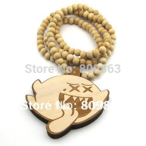 Pendants on Hip Hop Wooden Obey Pendants Black Beaded Fashion Rosary Jewelry