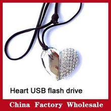 popular heart shape usb flash drive