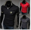 Free shipping 2013 Korean Slim lamborghini Logo Men Short-sleeve poloshirt , Fashion  brand shirts for men ,M L XL XXL