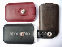 50pcs/lot New Arrivals buttons leather cover case ,phone pouch for iPhone 3G 3GS 4G mobile phon leather case,Free Shipping DHL