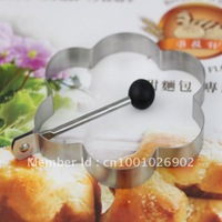 Stainless steel Flower shaped fried egg mould / Egg& Pancake Rings 10pcs/set Free shipping