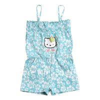 Free Shipping Wholesale Children Summer Clothing Girl's One Piece Skirt Hello Kitty Cartoon Style Suspender Skirt