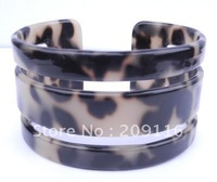 New Hot Green France Cellulose Acetate Leopard Bangles extract from cotton