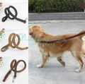 Free Shipping/Drop Shipping Leather buckle leather belt ( no collar ) Pet dog traction rope dog rope dog chain