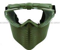 Electric Turbo Fan Full Face Mask (OD Green) free ship