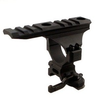 Quick Release 30mm mount with top rail free ship