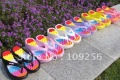 wholesale slippers free shipping Sandy shoes thin body shoes 5color for choose EVA Shake flip flops