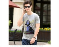 Free shipping--2012 Summer personality men Cotton Short Sleeve T-Shirt/Short Sleeve T-Shirt