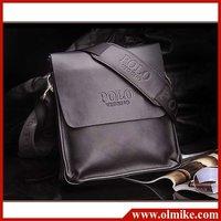 Wholesale price men's diagonal leather business package shoulder bag satchel briefcase leisure bags for man bag brown back BB028