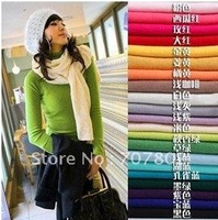 Fast shipping 6pc/lot Hot sales long-sleeved sweater coat/primer shirt sweater/high-necked collar sweater(23 colors for choose)