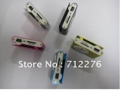 free shipping Manufacturers selling card small clamps MP3 gift MP3 apple clip MP3(China (Mainland))