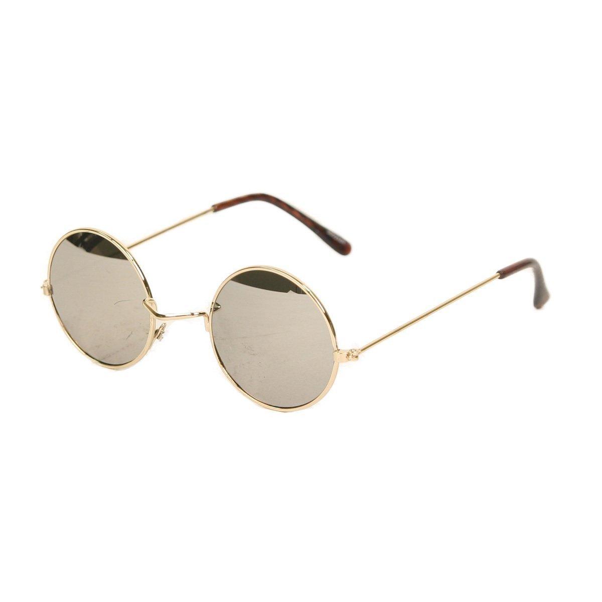 John Lennon Type Eyeglass Frames : 60s John Lennon Style Round Gold Frame/ Black Lens ...