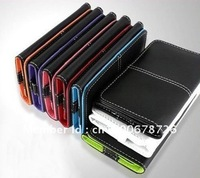 wholesale Colorful fold Multi Pouch Credit ID Card slot wallet Holder leather Flip Case Cover Pocket For Apple iPhone  4 4s 3