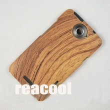 10pcs/lot Wood Pattern Hard Case for HTC Edge One X / XL(China (Mainland))