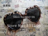 Free Shipping 10PCS/Lot Fashion Popular Women Heart sunglasses 13 Colors For Choice