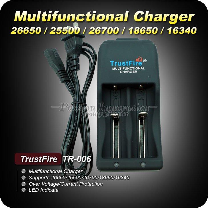 Зарядное устройство Runhui 1Set tr/006 li/ion LED 2 x 16340 18650 26650 26700 TrustFire TR-006 устройство зарядное трофи tr 120