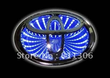 free shipping,,car logo  for TOYOTA COROLLA / NEW VIOS/HIGHLANDER ,car badge light,auto led light,auto emblem led lamp