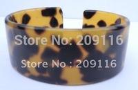 Promotion 20pcs/lot Unique France Cellulose Acetate Leopard Bangles for Women Green Jewelry