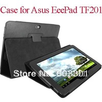 free shipping PU leather case for Asus Eeepad TF201, TF201 case stand,Eeepad TF201 case cover,PP bag packing